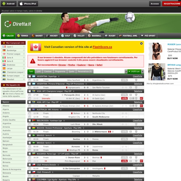 risultati calcio in tempo reale e partite in