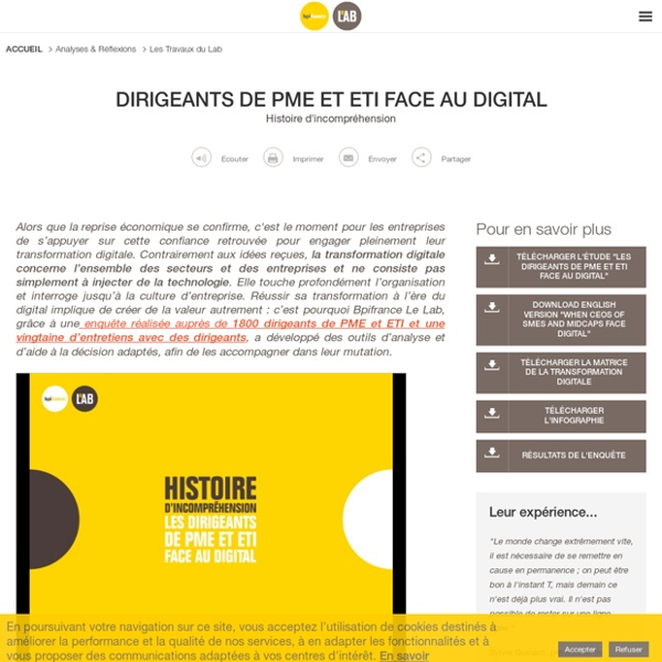 Dirigeants de PME et ETI face au digital