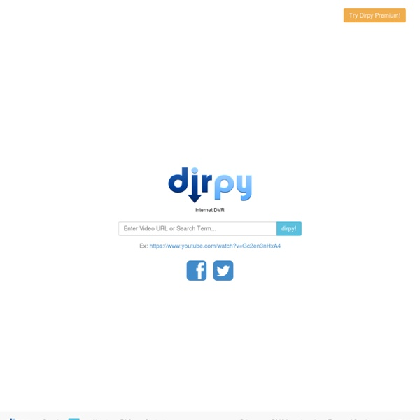 Dirpy - YouTube to MP3