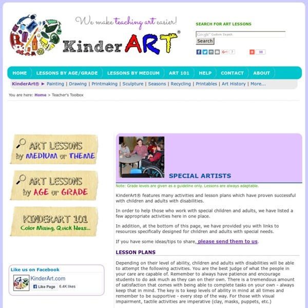 Art for Children and Adults with Disabilities - Lessons Art: KinderArt ®