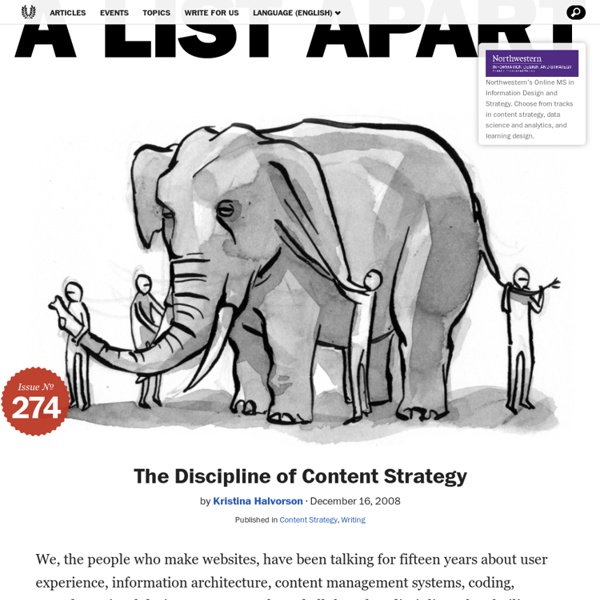 The Discipline of Content Strategy