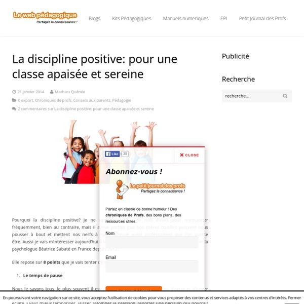 La discipline positive:pour une relation apaisée avec vos élèves