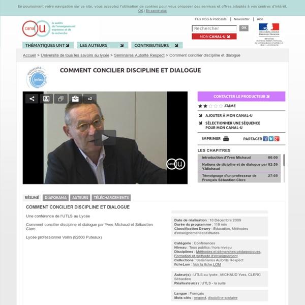 Comment concilier discipline et dialogue - Yves Michaud et Sébastien Clerc