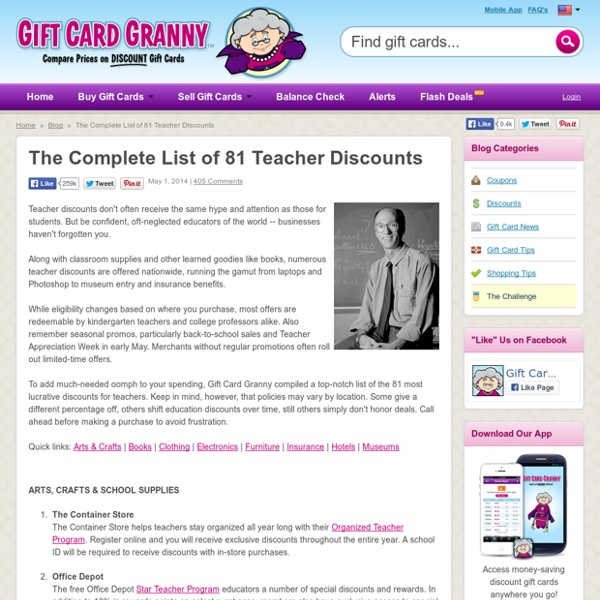 Teacher Discount: The Complete List of 81 Teacher Discounts