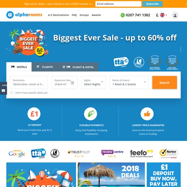 Cheap hotels and apartments, low cost flights, and cheap holidays worldwide with alpharooms.com