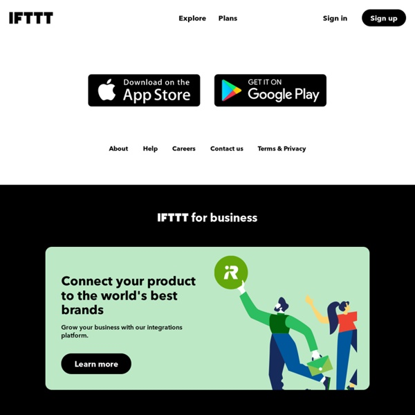 Discover IFTTT and Applets