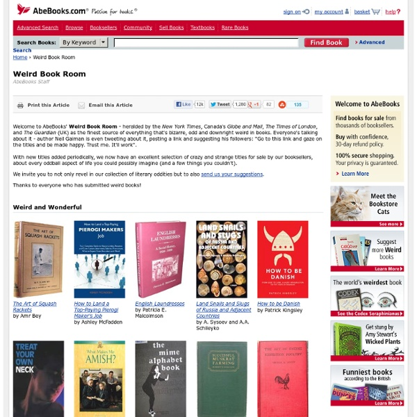 Discover Literary Oddities in the Weird Book Room on AbeBooks