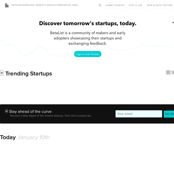 Discover and get early access to tomorrow's startups - Beta List