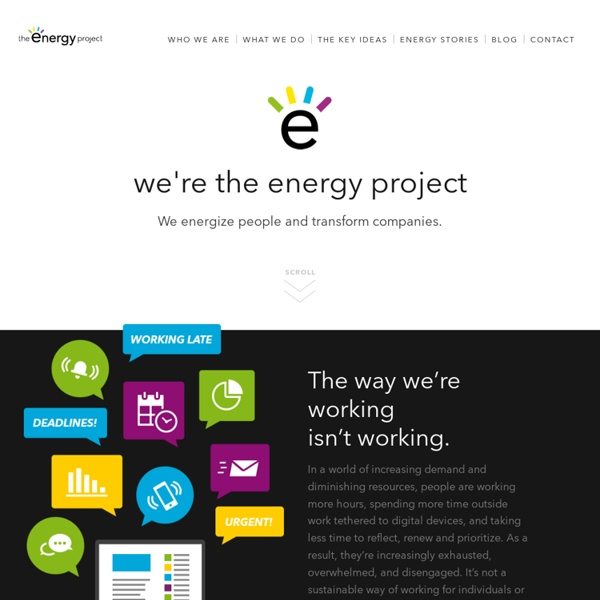 Discover A Better Way of Working - The Energy Project