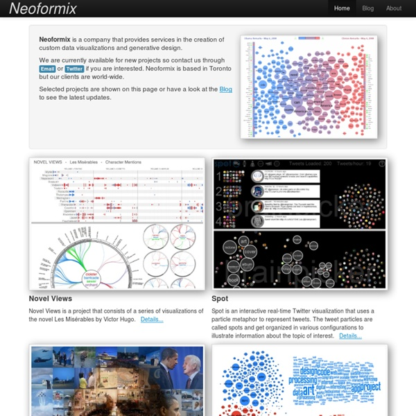 Neoformix - Discovering and Illustrating Patterns in Data