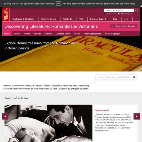 Discovering Literature: Romantics and Victorians