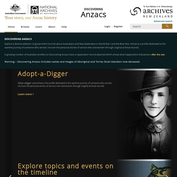 National Archives of Australia and Archives NZ