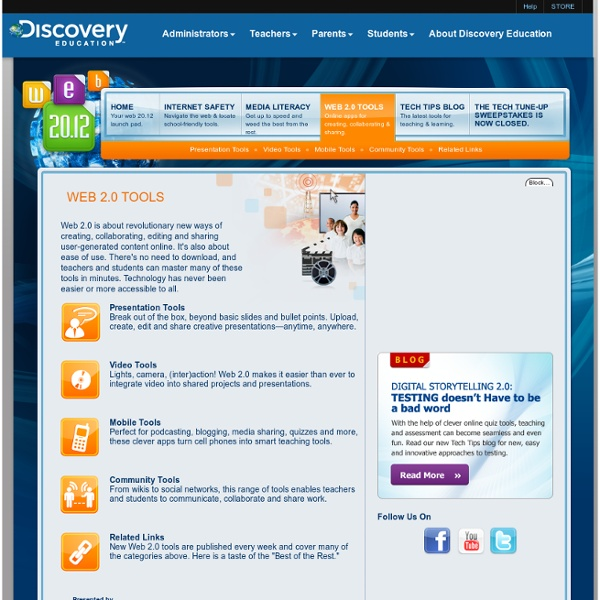 Discovery Education: Web 2.0 Tools