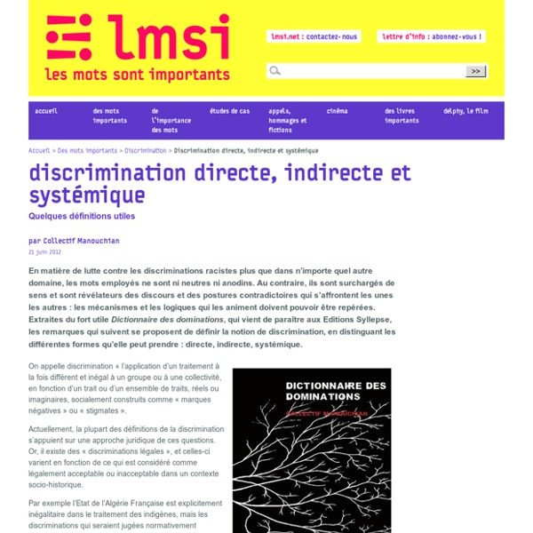 Discrimination directe, indirecte et systémique