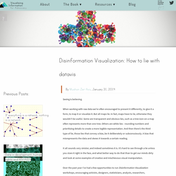 Disinformation Visualization: How to lie with datavis