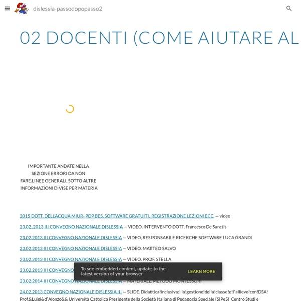 02 DOCENTI (COME AIUTARE ALUNNI DSA, LINEE GUIDA TUTTE LE MATERIE, USO DI LIM, IPAD) - dislessia-passodopopasso2