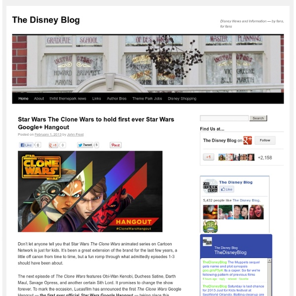 Disney News and Information — by fans, for fans