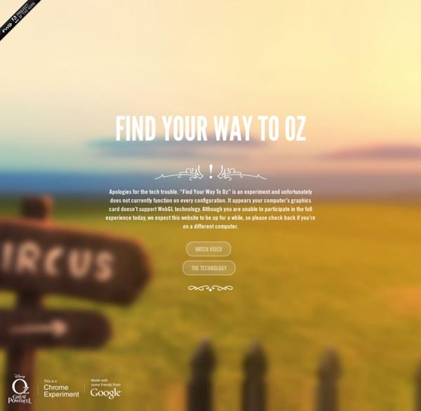 Entrez dans le monde fantastique d'Oz