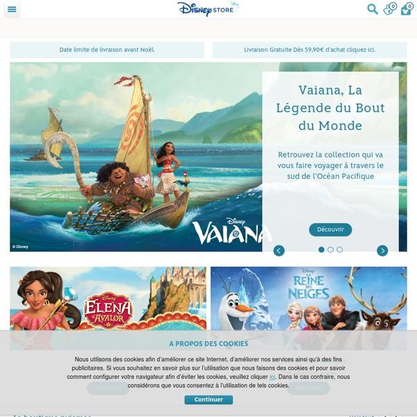 Site officiel des produits Disney