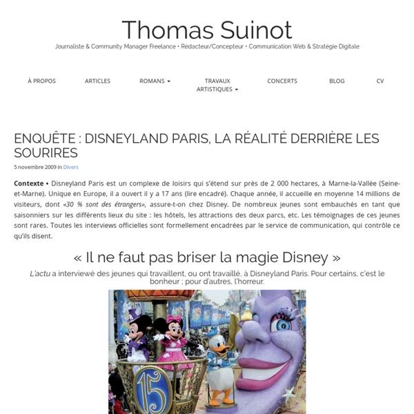 ENQUÊTE : DISNEYLAND PARIS, LA RÉALITÉ DERRIÈRE LES SOURIRES