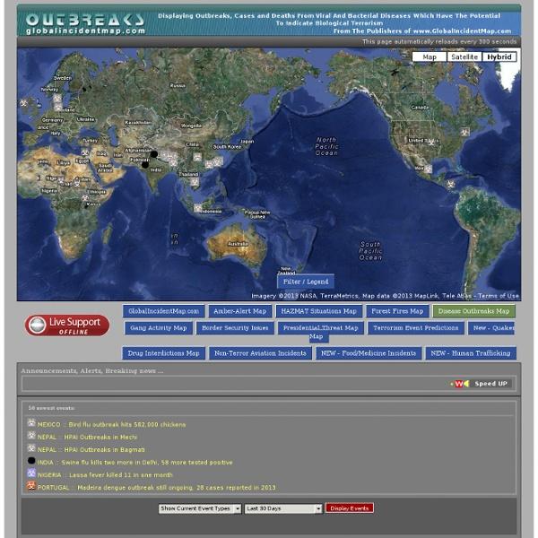 Global Incident Map Displaying Outbreaks Of All Varieties Of Diseases