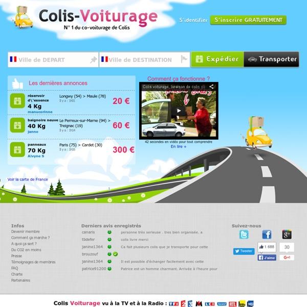 Livraison de colis pas cher en Colis Voiturage, Plus de 42 000 trajets disponibles en France. Covoiturage de colis
