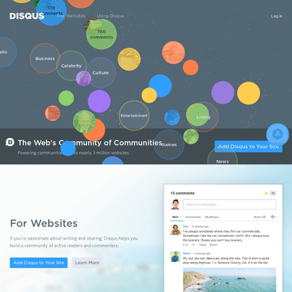 Discover your community - DISQUS