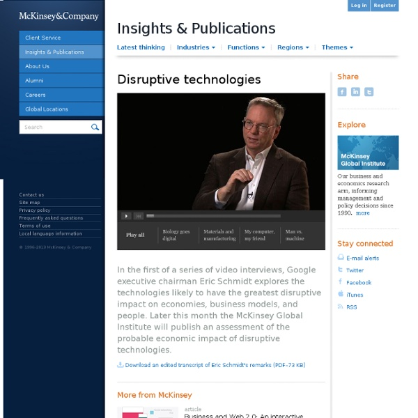 Disruptive technologies articles and insights