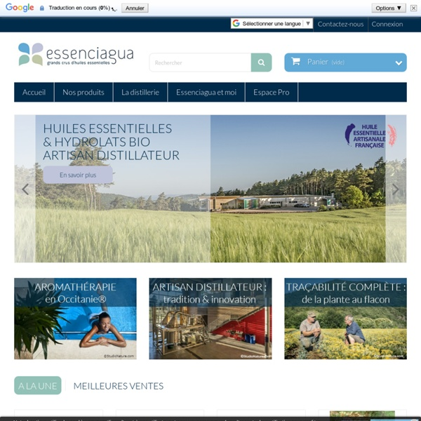 Site officiel Essenciagua - Grands crus d'huiles essentielles