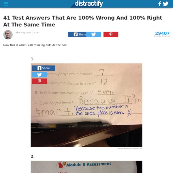 41 Test Answers That Are 100% Wrong But Totally Genius At The Same Time
