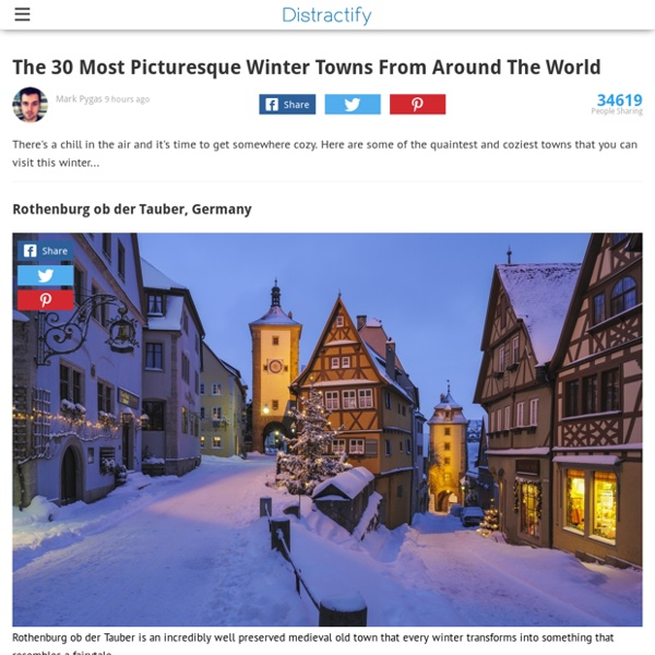 The Thirty Most Picturesque Winter Towns From Around The World