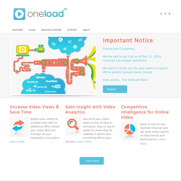 OneLoad - Online Video Distribution Simplified : OneLoad