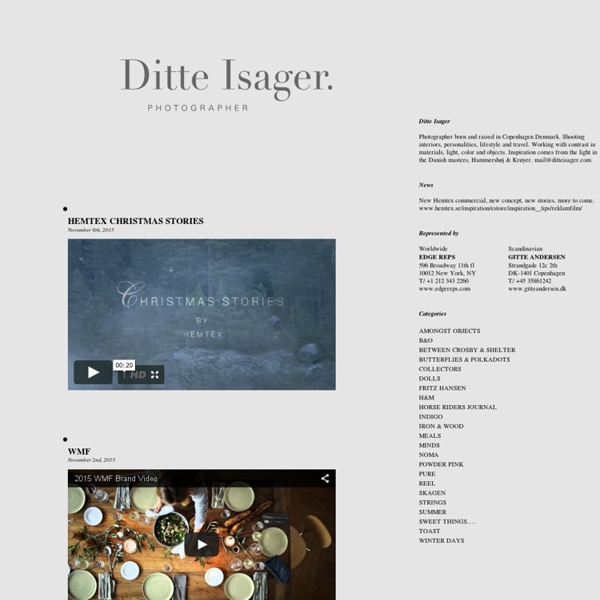 Ditte Isager – Photographer