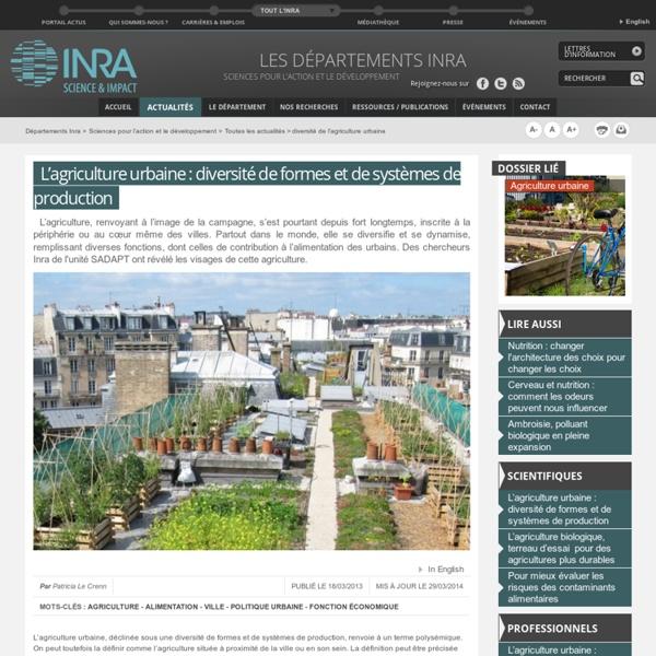 Diversité de l'agriculture urbaine