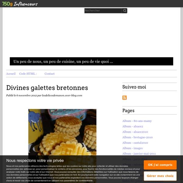 Divines galettes bretonnes