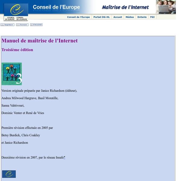 Division Media et Société de l'Information Conseil de l'Europe - Accueil