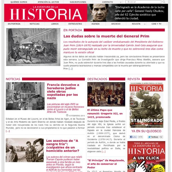 La Aventura de la Historia, revista de divulgación elaborada por expertos y catedráticos de prestigio