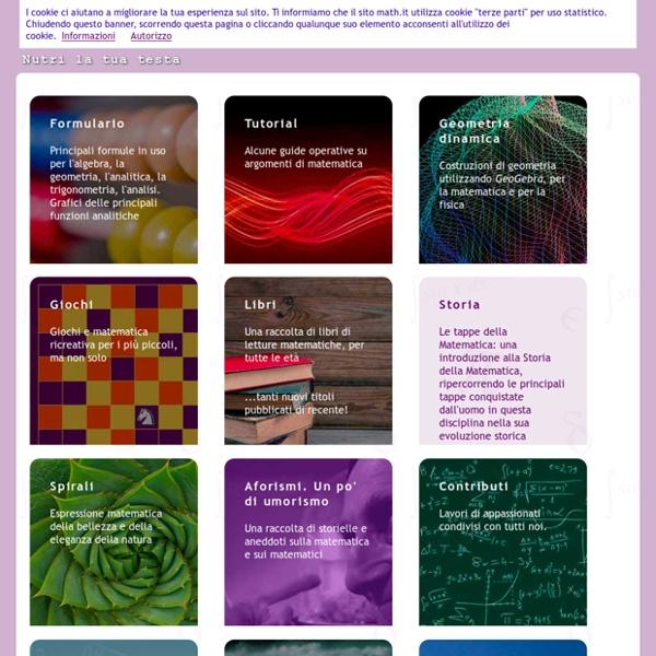 Math.it - Didattica e divulgazione della matematica