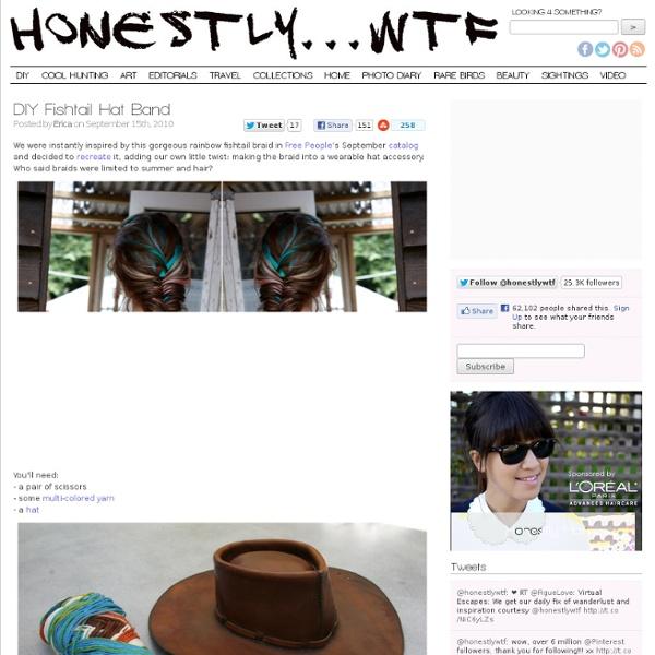 DIY Fishtail Hat Band