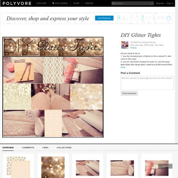DIY Glitter Tights