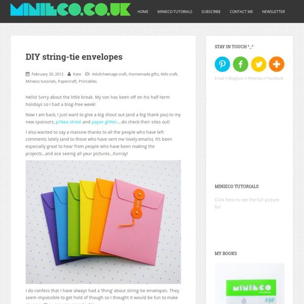 DIY string-tie envelopes