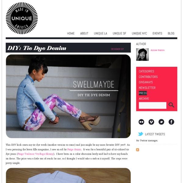DIY: Tie Dye Denim