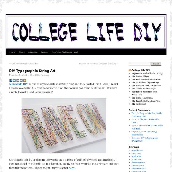 DIY Typographic String Art