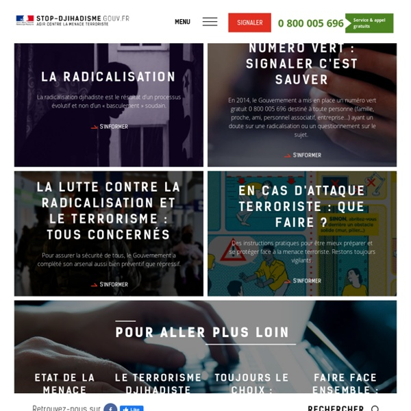 Stop-djihadisme.gouv.fr - Agir contre la menace terroriste - Stop Djihadisme