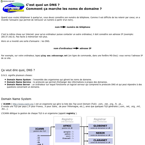 DNS Domain Name System, Service or Server