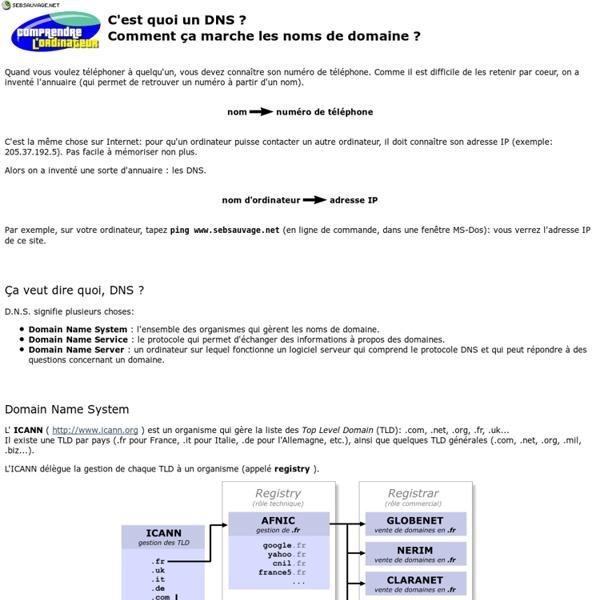 Comprendre l'ordinateur - DNS
