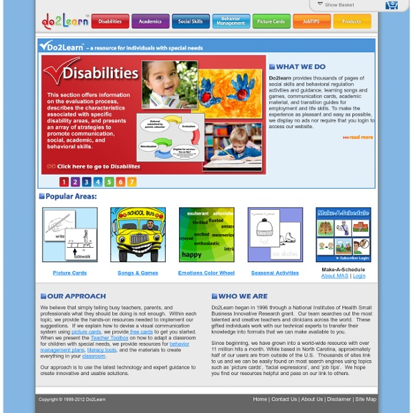 Do2Learn: Educational Resources for Special Needs