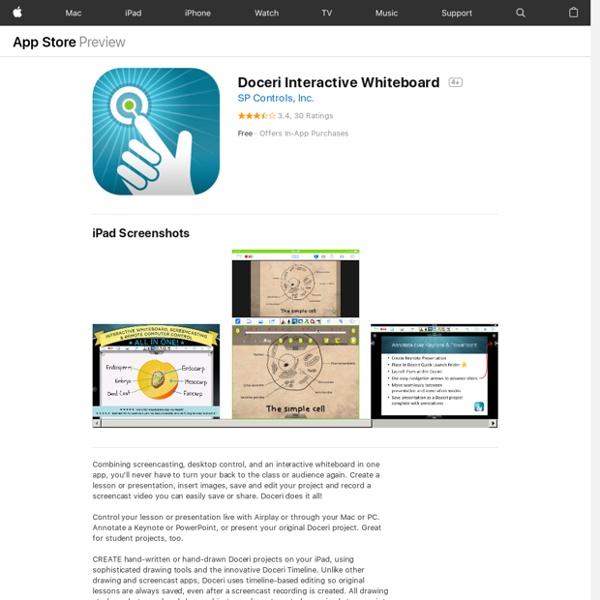Doceri. Interactive Whiteboard (IPAD)
