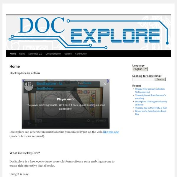 DocExplore - Création de livres numériques interactifs