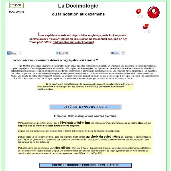 La docimologie science de l'évaluation